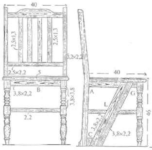 Табурет лестница своими руками чертежи 85